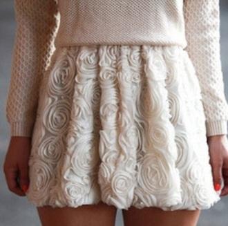 skirt white dress rose sweater