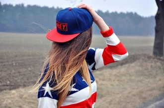 sweater usa usa sweater blue red white beautiful sweater stars hat shirt cap amazing sexy obey fashion