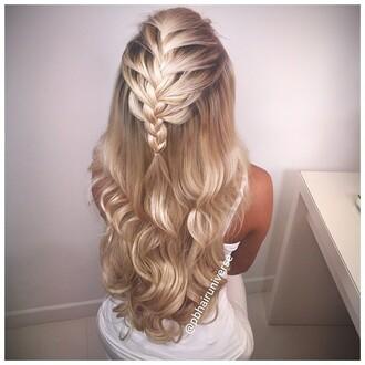 hair accessory blonde hair plait curly hair weft