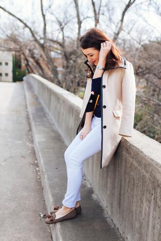 dallas wardrobe // fashion & lifestyle blog // dallas - fashion & lifestyle blog blogger shoes jeans sweater ballet flats winter outfits white pants