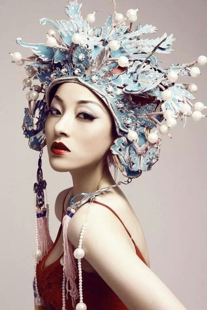 Hair Accessory Geisha Flower Crown Jewels Bikini