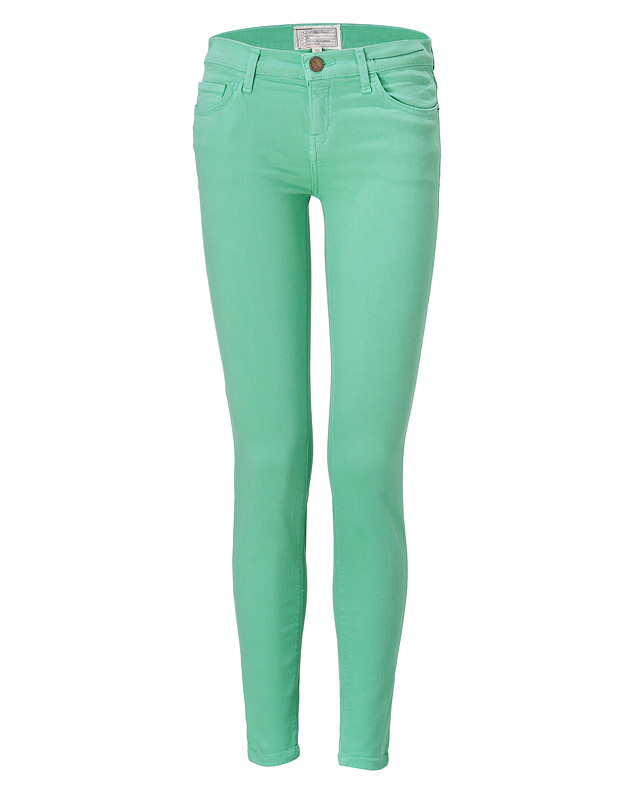 Winter Green Ankle Skinny Jeans from CURRENT/ELLIOTT | Luxury fashion online | STYLEBOP.com
