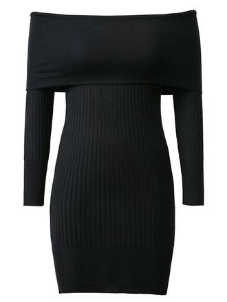 dress little black dress fashion trendy black dress long sleeves off the shoulder fall outfits zaful