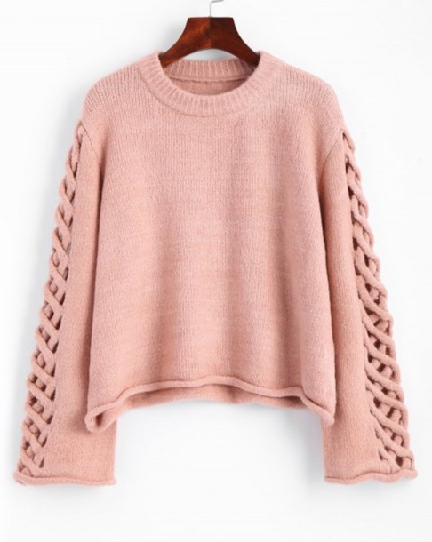 sweater girly pink sweatshirt jumper cut-out
