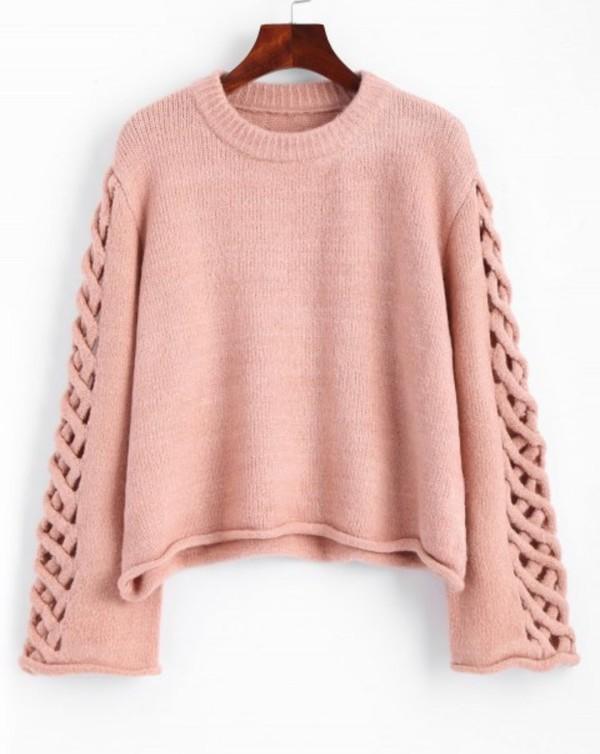 sweater girly pink sweatshirt jumper cut-out