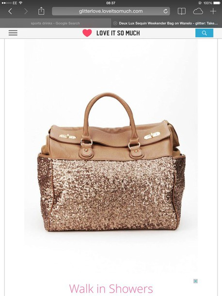 bag sequin weekender bag