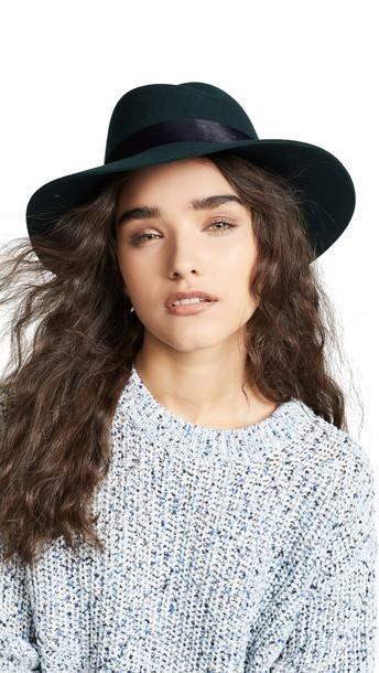 Rag & Bone Zoe Fedora Hat in teal