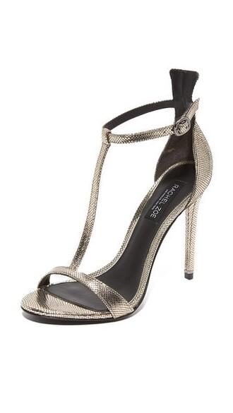 metallic dark sandals shoes