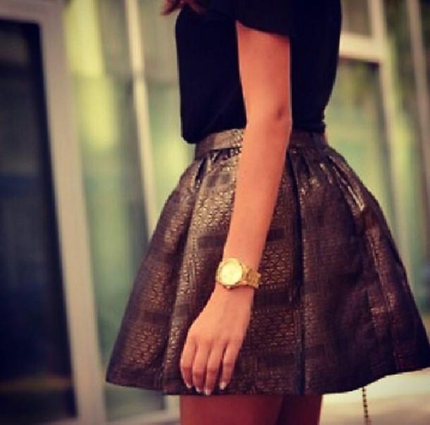 skirt mini skirt copper