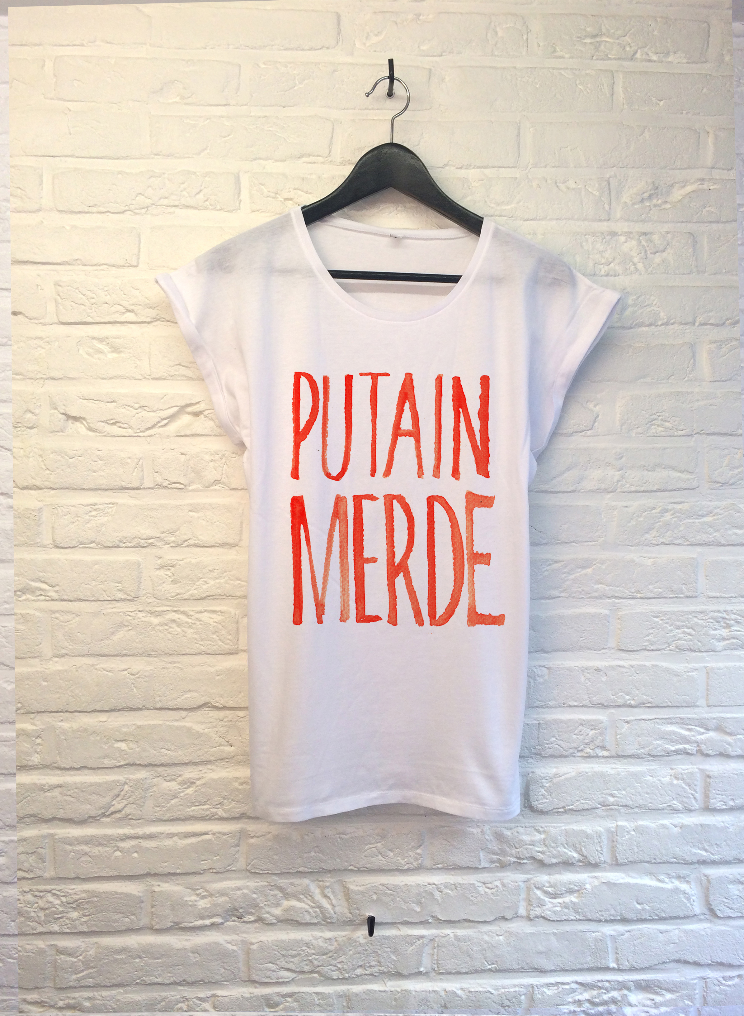 T Shirt Th Gallery Putain Merde Femme - Atelier Amelot
