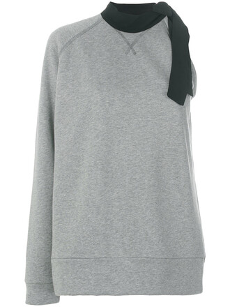 sweater women cotton silk grey