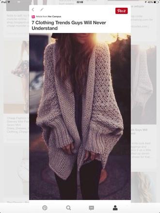 cardigan woolly warm boyfriend jumpers sweater