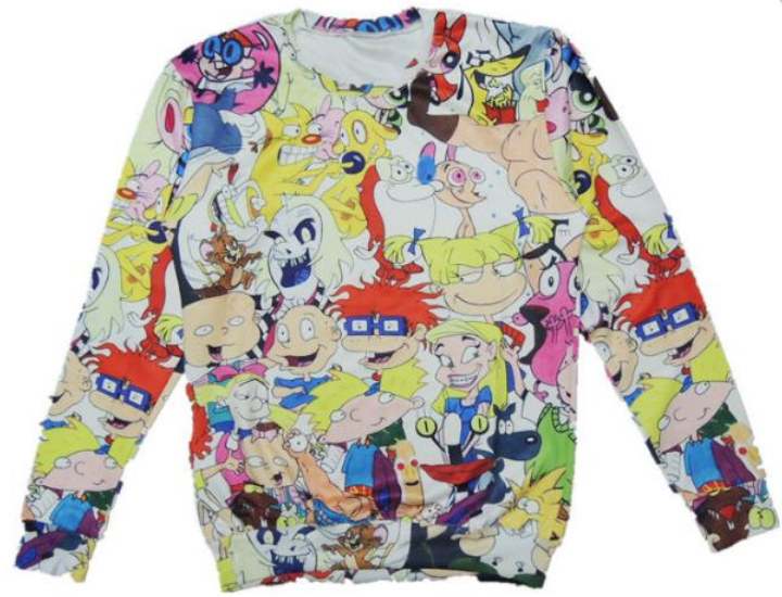 3d nickelodeon crewneck · thug fashion · online store powered by storenvy