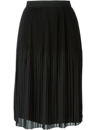 skirt pleated skirt pleated sheer black