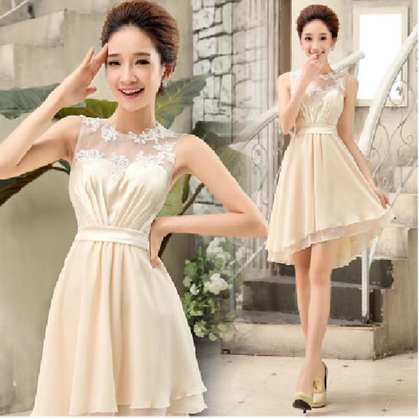 bridesmaid homecoming dress high low homecoming dress party dress short bridesmaid dress