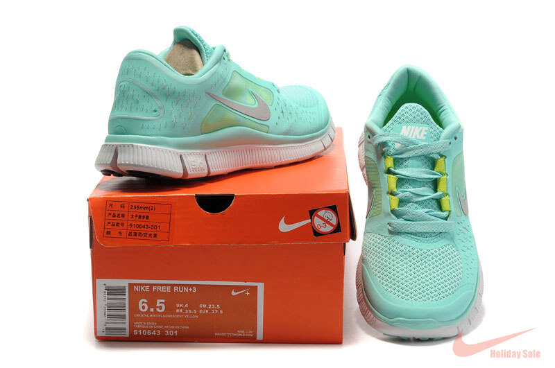 5c317db229a2 Nike Free Run 3 Womens Tiffany Blue Running Shoes  FZ205  -  76.49