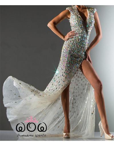 Sparkle crystal diamond dress