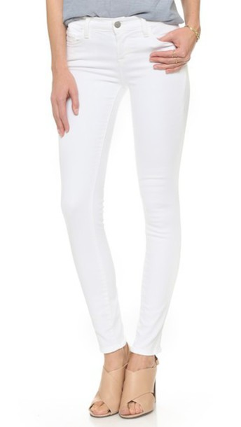J BRAND jeans skinny jeans blanc