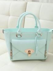 bag,mint,handbag,spring,pastel,pastel bag,turquoise,top