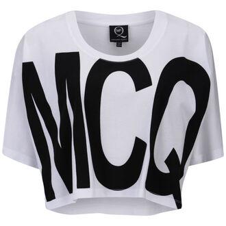 t-shirt mcq alexander mcqueen women's logo print cropped t-shirt alexander mcqueen mcq