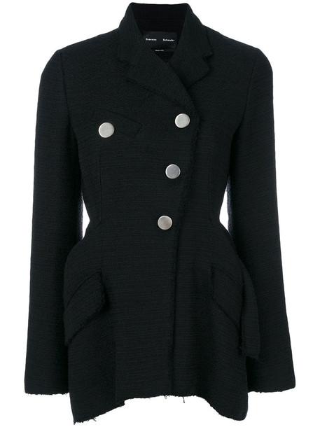 Proenza Schouler blazer asymmetrical women cotton black jacket