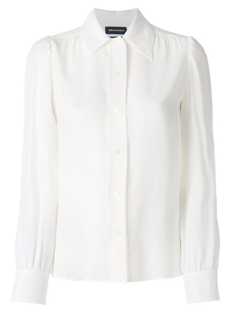 blouse women white silk top