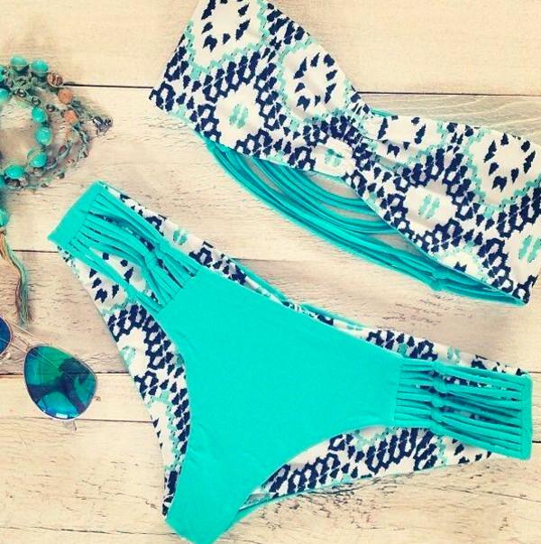 swimwear swimwear bikini turquoise