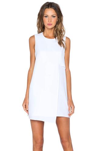 dress shift dress asymmetrical white