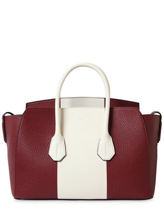 bag leather bag leather dark white dark red red