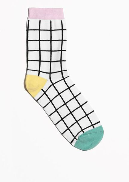 socks tumblr grid colorblock trendy aesthetic