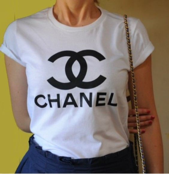 shirt t-shirt chanel chanel t-shirt chanel shirt vogue shirt