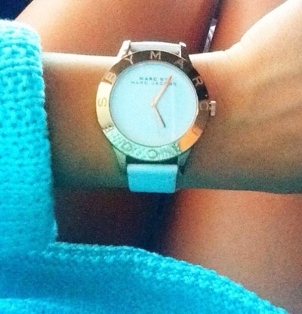 jewels marc jacobs watch white & gold watch