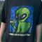 90's distressed smoking alien grunge tee