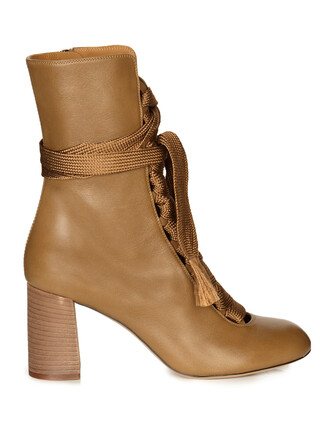 leather ankle boots boots ankle boots lace leather khaki shoes