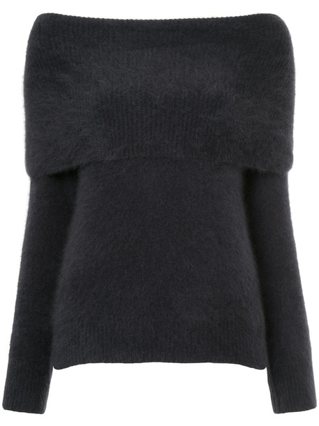 jumper women blue wool sweater