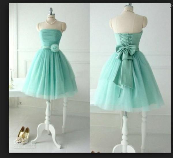dress cute brides maids dresses nice turquoise dress dress short prom dress mint homecoming dress party dress short knee length dress bridesmaid blue prom dress teal