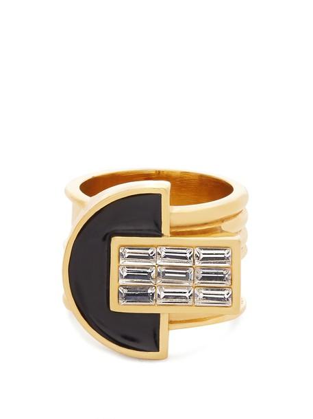 CERCLE AMEDEE owl embellished ring black jewels