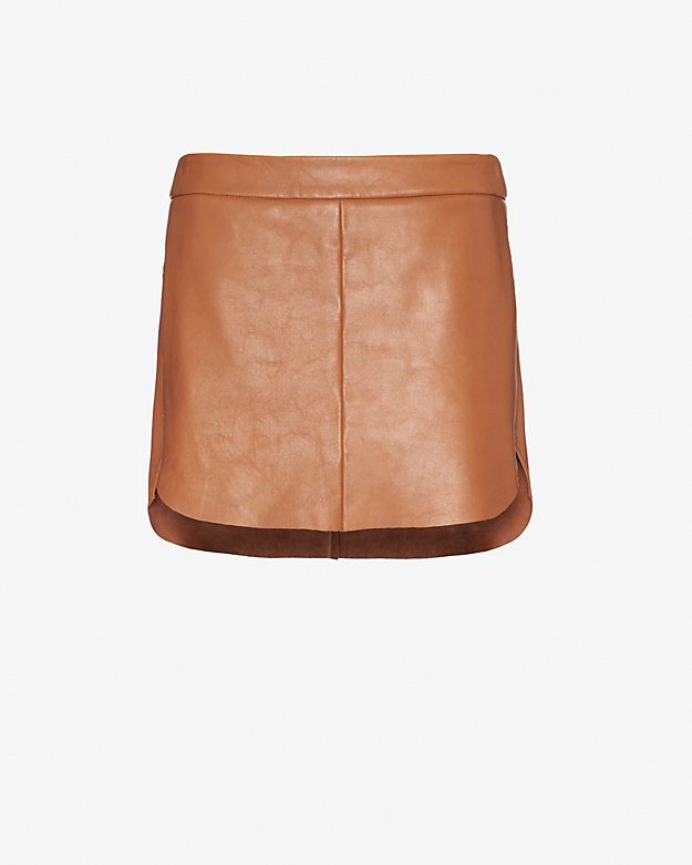 f51f663be3 mason by michelle mason EXCLUSIVE Zipper Detail Leather Mini Skirt at  INTERMIX | Shop Now ...