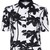 ROMWE | ROMWE Palm Print Midriff Shirt, The Latest Street Fashion
