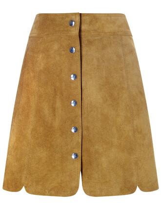 skirt mini skirt mini tan suede brown