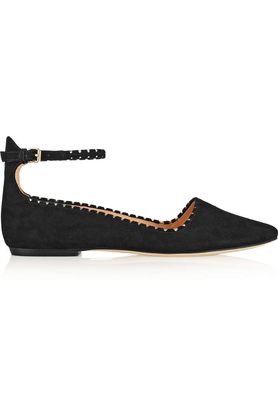 Sigerson Morrison Haden suede flats – 50% at THE OUTNET.COM