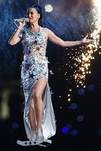 dress silver katy perry sparkly