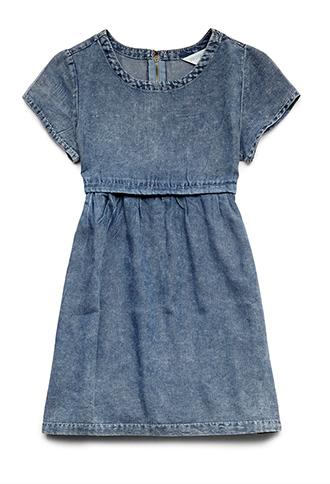 Cool Denim Babydoll Dress (Kids) | FOREVER 21 - 2000088155