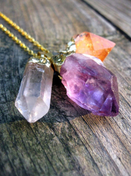 jewels stone necklace accessories jewlery crystal pretty trend purple cool color
