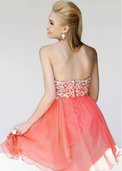 sexy dress clothes prom dress party dress coral dress sherri hill