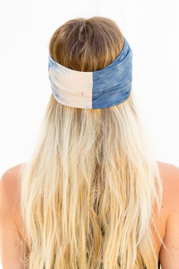 hat turban headband hair wrap tie dye