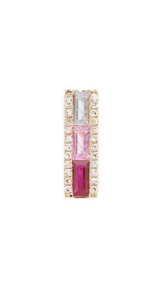 cuff ear cuff gold pink jewels