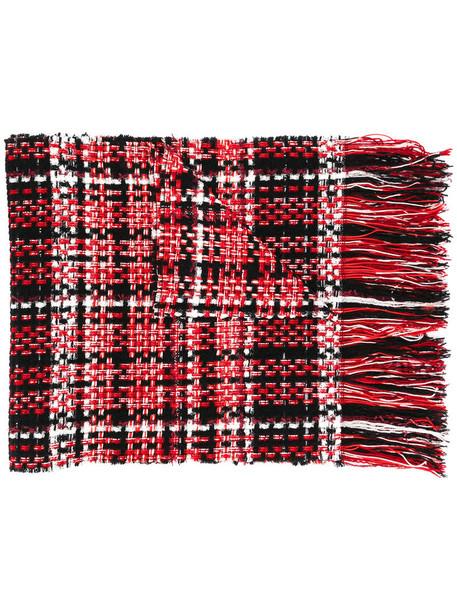 Rag & Bone women scarf cotton wool red