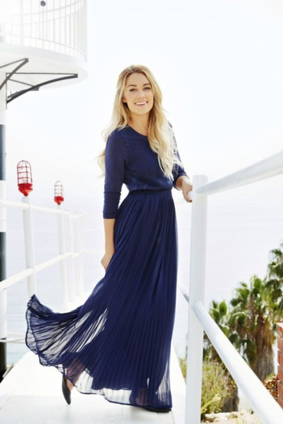 lauren conrad blue dress navy shirt skirt shoes