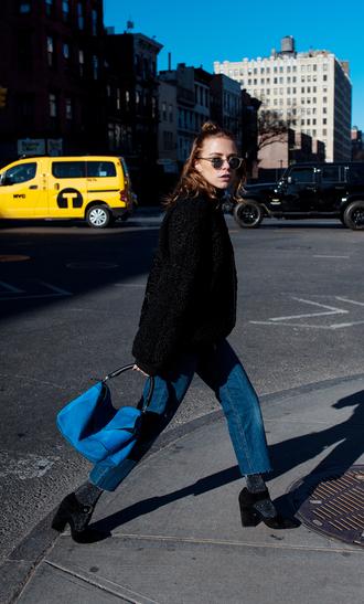 always judging blogger shoes tights bag loewe bag